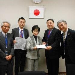 「20歳成人式典の継続要望」で山東昭子顧問を訪問